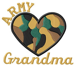 Army Grandma embroidery design