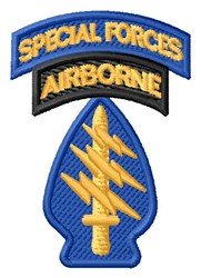 Special Forces Airborne embroidery design