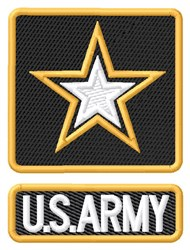 U.S. Army embroidery design