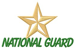 National Guard embroidery design