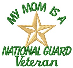 Mom National Guard Vet embroidery design
