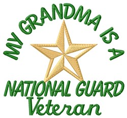 Grandma National Guard Vet embroidery design