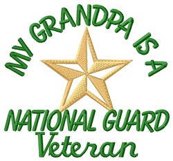 Grandpa National Guard Vet embroidery design