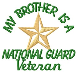 Brother National Guard Vet embroidery design