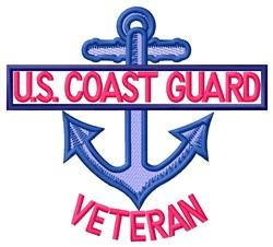 Coast Guard Veteran embroidery design