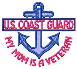 Mom Coast Guard Vet embroidery design