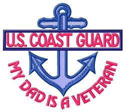 Dad Coast Guard Vet embroidery design