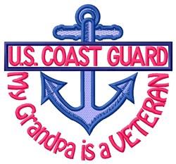 Grandpa Coast Guard Vet embroidery design