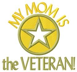 Mom The Veteran embroidery design