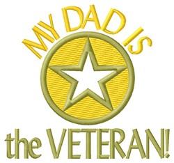 Dad The Veteran embroidery design