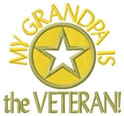 Grandpa the Veteran embroidery design