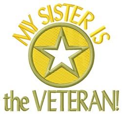 Sister The Veteran embroidery design