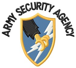 Security Agency embroidery design
