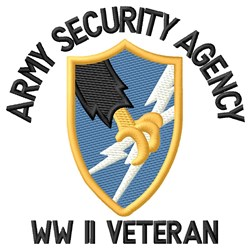 WW2 Security Agency embroidery design