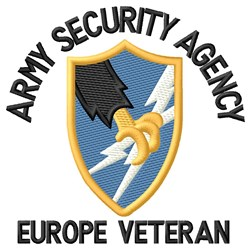 Europe Security Agency embroidery design