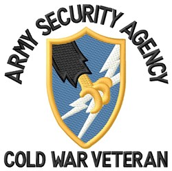 Cold War Security Agency embroidery design