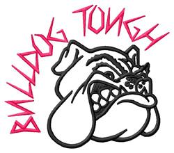 Bulldog Tough embroidery design