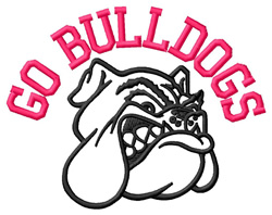 Go Bulldogs embroidery design
