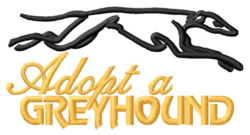 Adopt a Greyhound embroidery design