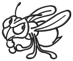 Hornet Outline embroidery design