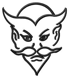 Devil Outline embroidery design