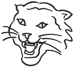 Wildcat Outline embroidery design