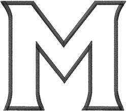 Toga Outline Mu embroidery design