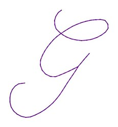 Nelly Font G embroidery design