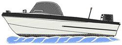 Lake Boat embroidery design