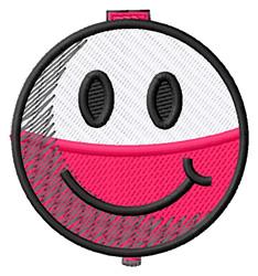 Smiley Bobber embroidery design