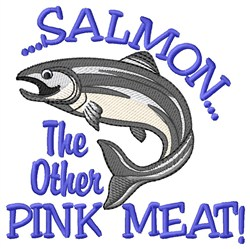 Salmon Pink Meat embroidery design