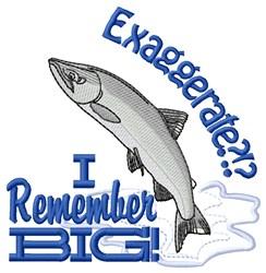 I Remember Big embroidery design