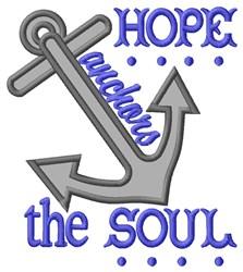 Hope Anchor Applique embroidery design