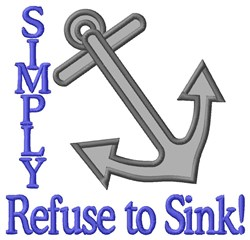 Refuse to Sink Applique embroidery design