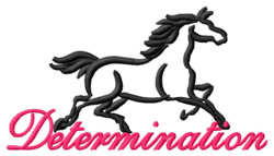 Determination embroidery design