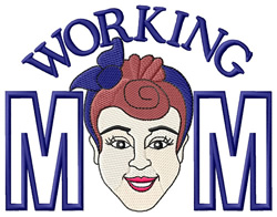 Working Mom embroidery design