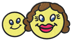Mom & Baby Smiley embroidery design