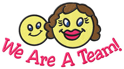 We Are a Team embroidery design