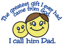 The Greatest Gift embroidery design