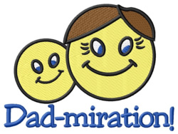 Dad-miration embroidery design