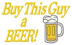 Buy Beer embroidery design