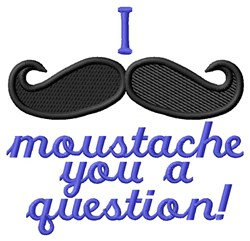 Moustache Question embroidery design