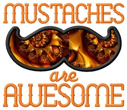 Awesome Mustaches embroidery design