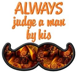 Judge a Man embroidery design