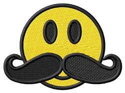 Smiley Stache embroidery design