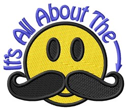 All About the Moustache embroidery design