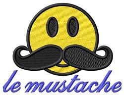 Le Mustache embroidery design