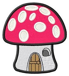 Mushroom House embroidery design