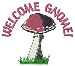 Welcome Gnome embroidery design