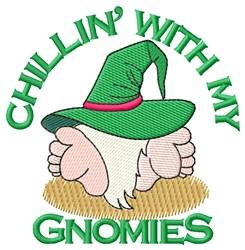 Chillin Gnomies embroidery design